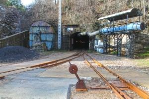 La boca d'entrada a la mina