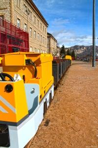 El nostre mitjà de transport utilitzat per entrar a fer la visita a la mina